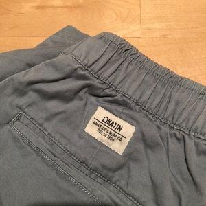 Katin Drawstring Shorts in Grey/Blue Size S